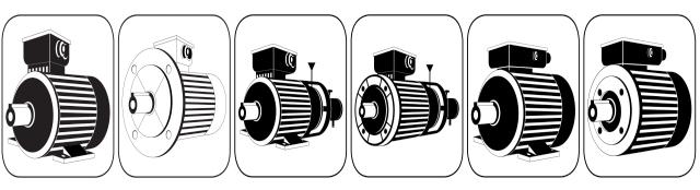 Elektromotor Anfragehilfe z.B. für B3 Normmotor, B5 Normmotor, B3 Bremsmotor, B14 Bremsmotor, B3 Wechselstrommotor BK, B14 Wechselstrommotor BK AK