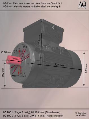 elektromotor b14kl gr sse 100l aqplus 39 s elektromotoren. Black Bedroom Furniture Sets. Home Design Ideas