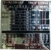 Elektromotor wickeln 8,3 KW 1475 Um B3 Typenschild