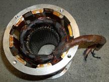 Referenzarbeiten neu wickeln, Unterölmotor durch gebrannt neu wickeln
