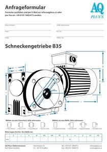 Schneckengetriebe Anfragedatenblatt Elektromotor Anfragedatenblatt