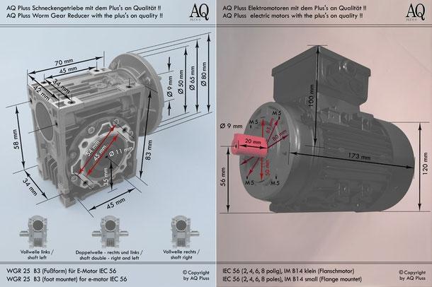 schneckengetriebe mit ew mot 230v bersicht aqplus 39 s. Black Bedroom Furniture Sets. Home Design Ideas