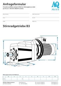 Stirnradgetriebe Anfragedatenblatt Elektromotor Anfragedatenblatt