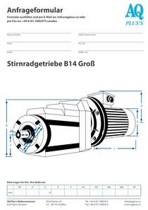 Stirnrad Flanschgetzriebe B14gr5 Stirnradgetriebe Anfragedatenblatt Elektromotor Anfragedatenblatt