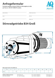 Stirnrad Fuss / Flanschgetriebe B34gr Stirnradgetriebe Anfragedatenblatt Elektromotor Anfragedatenblatt