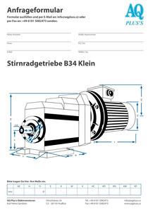 Stirnrad Fuss / Flanschgetriebe B34kl Stirnradgetriebe Anfragedatenblatt Elektromotor Anfragedatenblatt